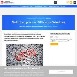 Mettre en place un VPN sous Windows