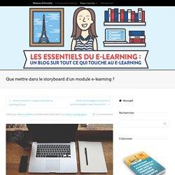 Que mettre dans le storyboard d'un module e-learning ?