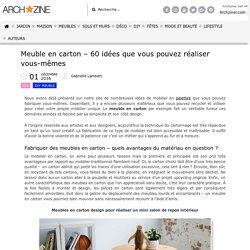 Archzine meuble en carton - 60 idées DIY -F