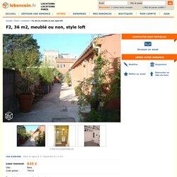 F2, 36 m2, meublé ou non, style loft Locations Paris