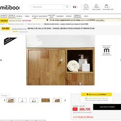 Meuble de salle de bain : vasque, meuble sous-vasque et miroir EVAN - Miliboo