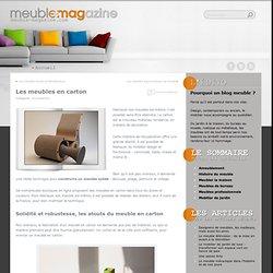 Les meubles en carton > Meuble-Magazine.com