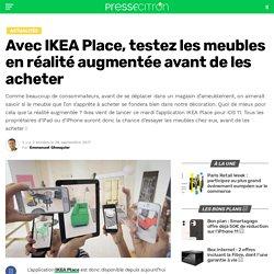 Avec IKEA Place, testez les meubles en réalité augmentée avant de les acheter