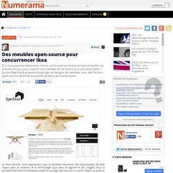 Des meubles open-source pour concurrencer Ikea
