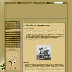 Meubles en carton Titelion à Lyon et en Lozère - Réalisation de meubles en carton