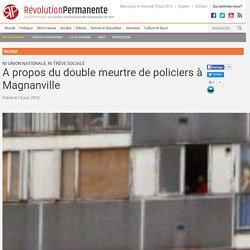 A propos du double meurtre de policiers à Magnanville