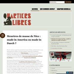 Meurtres de masse de Nice: made in America ou made in Daech?