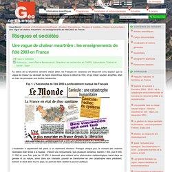Une vague de chaleur meurtrière : les enseignements de l'été 2003 en France