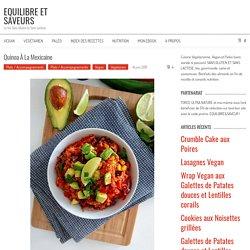 Quinoa à la mexicaine - EQUILIBRE ET SAVEURS