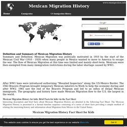 Mexican Migration History: US History for Kids ***