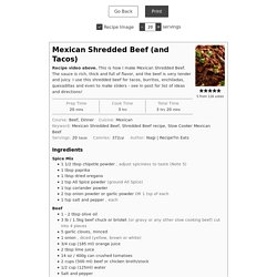 Mexican Shredded Beef (and Tacos) - RecipeTin Eats