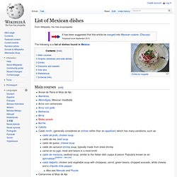 List of Mexican cuisine dishes