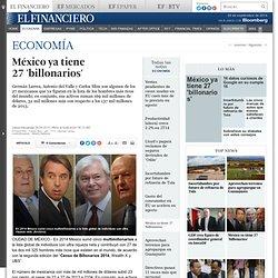 México ya tiene 27 'billonarios'