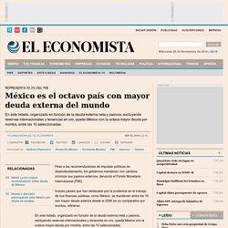 México es el octavo país con mayor deuda externa del mundo