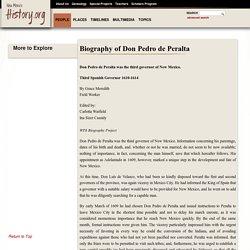 Don Pedro de Peralta