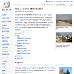 Mexico–United States barrier