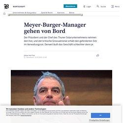 Meyer-Burger-Manager gehen von Bord