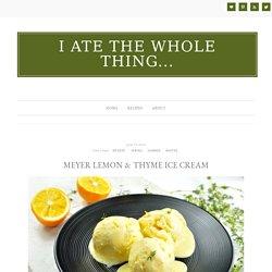 Meyer Lemon & Thyme Ice Cream