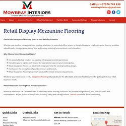 Retail Display Mezzanine Flooring