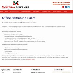 Office Mezzanine Floors and Installation – Mowbray Interiors