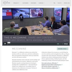 Mezzanine – oblong industries, inc.