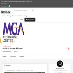 International Freight Forwarders Services in Canada - MGA International