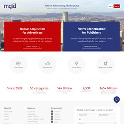 MGID: We Help Websites Grow Traffic for FREE