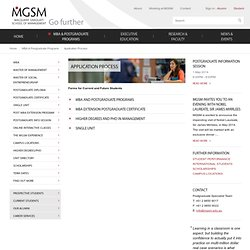MGSM - Application Process