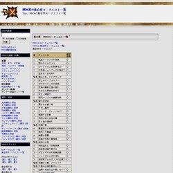 MHXの集会所キークエスト一覧 -(MHX)モンスターハンタークロス攻略データwiki