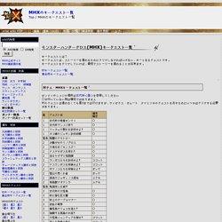 MHXのキークエスト一覧 -(MHX)モンスターハンタークロス攻略データwiki