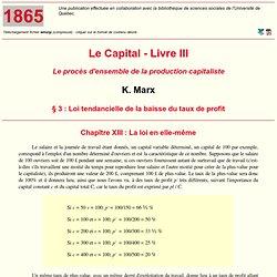 MIA: K. Marx - Le Capital - Livre III (13)