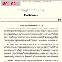 MIA: P. Lafargue – sentimentalisme