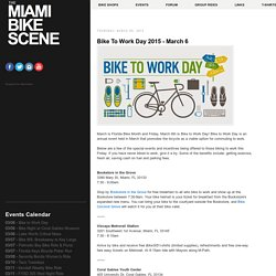 Bike To Work Day 2015 - March 6