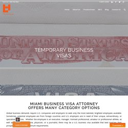 Miami Business Visa Attorney