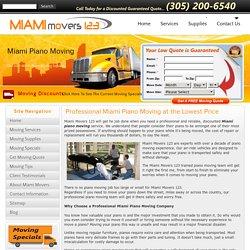 Miami Piano Movers, Best Piano Moving Company in Miami,FL