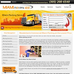 Miami Packing Service