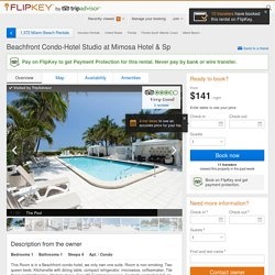 Miami Beach Vacation Apt. / Condo with 1 bedroom