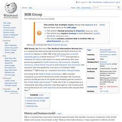 MIB Group