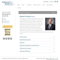 Michael Abramson - Solomon Ward Partner