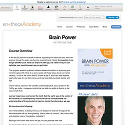 Brain Power with Michael Gelb - The en*theos Academy for Optimal Living