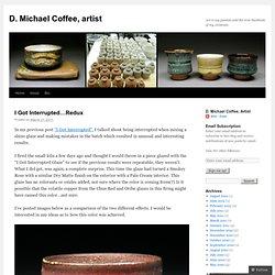 D. Michael Coffee, tenmoku recipe