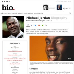 Michael Jordan - Biography - Basketball Player