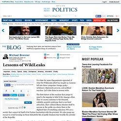 Michael Brenner: Lessons of WikiLeaks