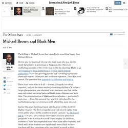 Michael Brown and Black Men - NYTimes.com