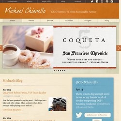 Welcome to Michael Chiarello.com
