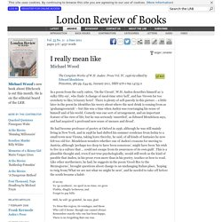 Michael Wood reviews 'The Complete Works of W.H. Auden' edited by Edward Mendelson · LRB 2 June 2011