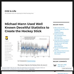 Michael Mann Used Well Known Deceitful Statistics to Create the Hockey Stick – CO2 is Life