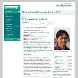 Dr Soon Xin Ng (Michael)