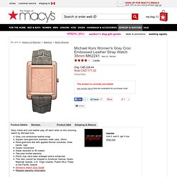 Michael Kors Watch, Women's Gray Croc Embossed Leather Strap MK2241 - Watch Trends - All Watches - Jewelry & Watches