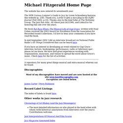 Michael Fitzgerald - Jazz Research